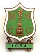 Manx Motor Cycle Club Isle of Man T.T. Races Qualified Starter Grand Prix badge