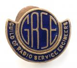 Guild of Radio Service Engineers GRSE union badge Birmingham Medal Co
