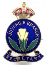 Primrose League Juvenile Branch Secretary Victorian political badge