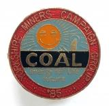 NUM Yorkshire Miners Campaign Group 1985 strike badge