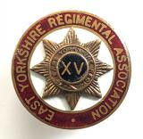 East Yorkshire Regimental Association OCA numbered badge