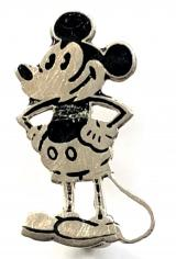Mickey Mouse cartoon character miniature silver badge by Charles Horner c1930