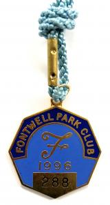 1996 Fontwell Park horse racing club badge