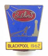 Butlins 1962 Blackpool holiday camp surfboarder badge
