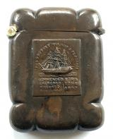 British & Foreign Sailors Society copper vesta made from HMS Foudroyant Nelson's Flagship