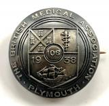 British Medical Association BMA Plymouth 1938 annual meeting badge
