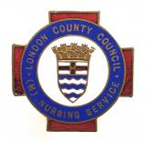 London County Council (M) Nursing Service male nurse badge pre 1953