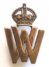 WW1 Volunteer War Workers officially numbered badge by J.R.Gaunt