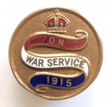 WW1 On War Service 1915 official workers badge