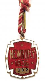 Newbury Racecourse horse racing club 1936 membership badge