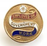 WW1 Employed On Government Work munition workers war service badge