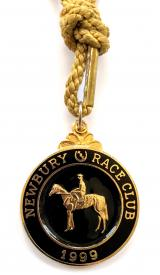 1999 Newbury Race Club horse racing membership badge