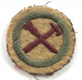 Boy Scouts Handyman proficiency khaki felt cloth badge circa 1909 pattern
