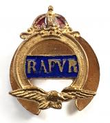Royal Air Force Volunteer Reserve RAFVR enamel lapel badge