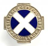 Registered General Nurse Scotland 1947 silver RGN badge