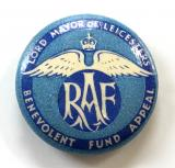 Lord Mayor of Leicester RAF Benevolent Fund Appeal tin button badge